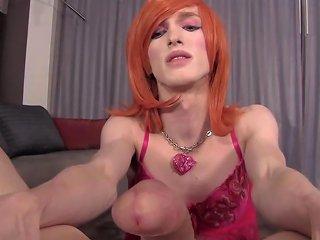 Cd Fay Valentine Blowing A Big One Eyed Snake Crossdresser