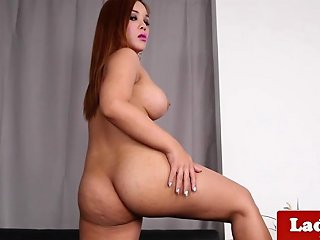Solo Cock Masturbation By Curvy Ladyboy